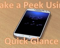 Peek at Android Using Quick Glance