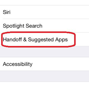 ios 8 handsoff and other apps