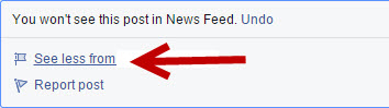 Facebook See Less Feature