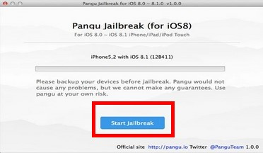 Start jailbreak button