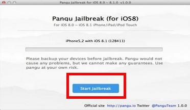 Start jailbreak button