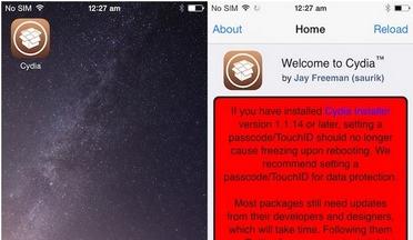 Cydia on Apple device