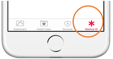 Medical ID icon on iPhone 6