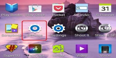 Settings Samsung phone