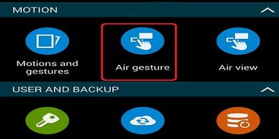 Air Gesture Samsung phone