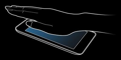 hand over sensor on Samsung phone