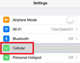 Cellular or Mobile Option on iPhone 6