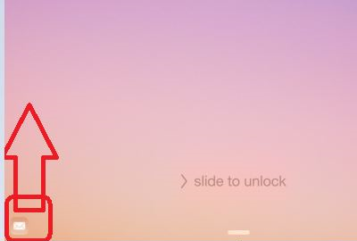 iOS lock screen