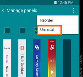 Note Edge - uninstall panels
