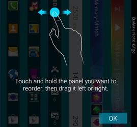 Note Edge - rearrange panel
