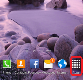 Apps icon on Galaxy