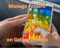 Manage Folders on Galaxy Devices