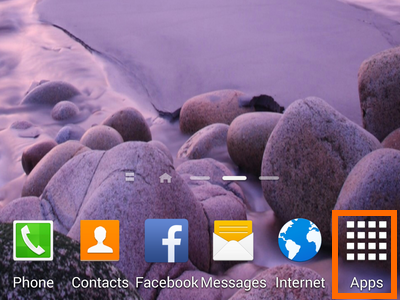 1. Apps icon on Home screen