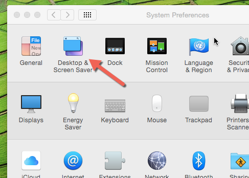OS X desktop and screen saver settings