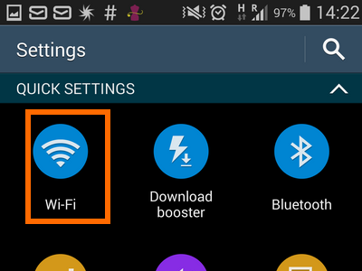 3. Wi-Fi on quick settings