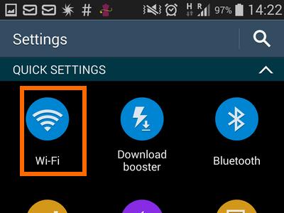 3. Wi-Fi on quick settings