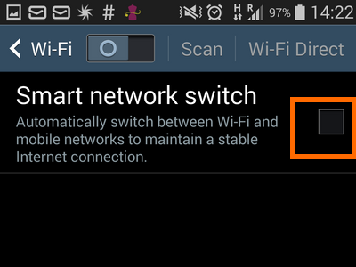 4. check box for smart network switch