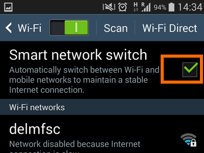 6. tick box with check mark on smart switch