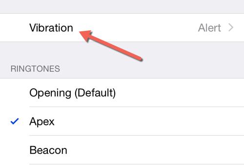 iOS change vibration pattern