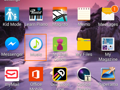 Music icon on apps list