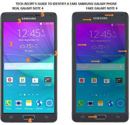 Real versus Fake Galaxy Note 4