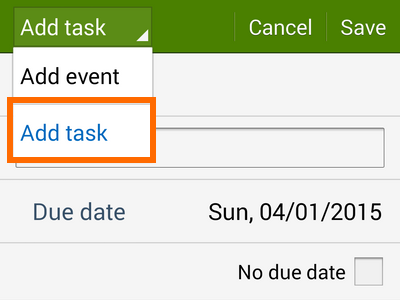 add a task button