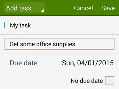 add task details