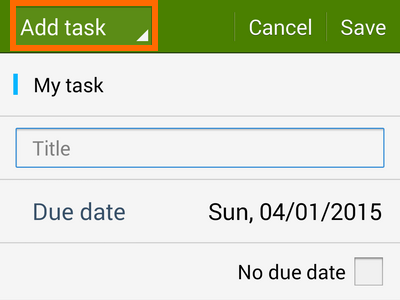 add task or event button