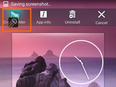 drag app to create folder icon