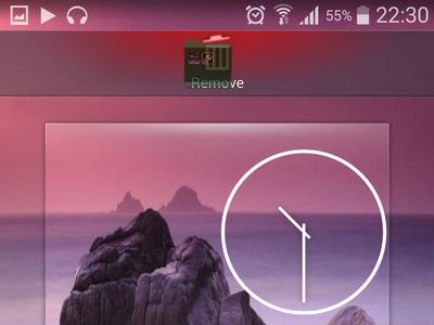 drag folder to remove icon