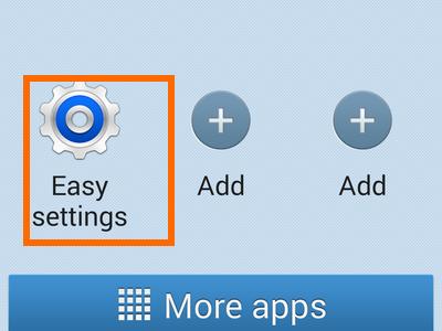 enable easy mode -easy settings