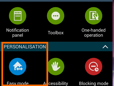 enable easy mode - personalization easy mode