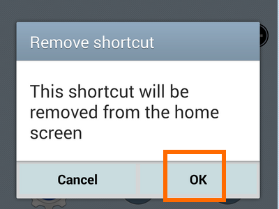 enable easy mode -remove app shortcut confirm