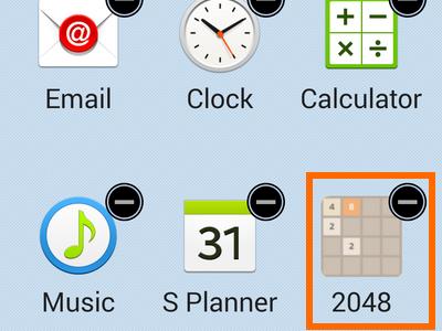 enable easy mode -remove app shortcut