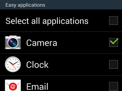 enable easy mode -select apps