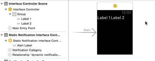 Adding labels to Apple Watch app
