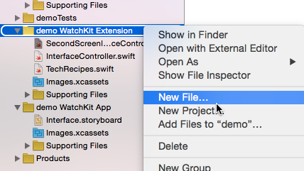 Create new file in Xcode