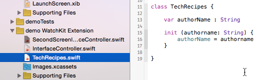 Create a new Swift class