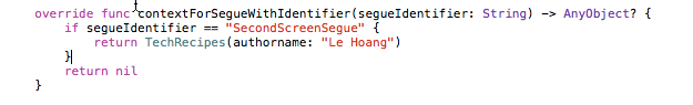 using contextForSegueWithIdentifier