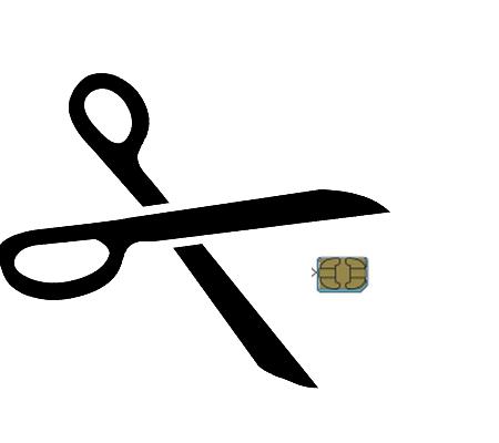 SIM card is successfully cut