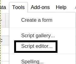 create formula in google sheets