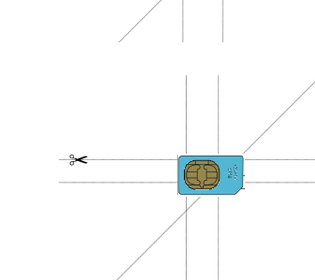 Position SIM Card To The Template