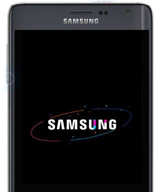 samsung logo on startup