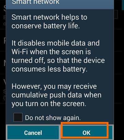 smart network dialog