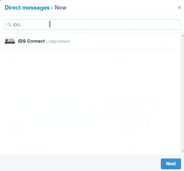 twitter send direct messages