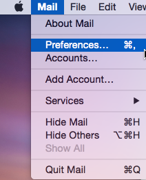 OS X Mail Preferences