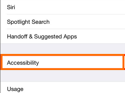 accessibility on General settings