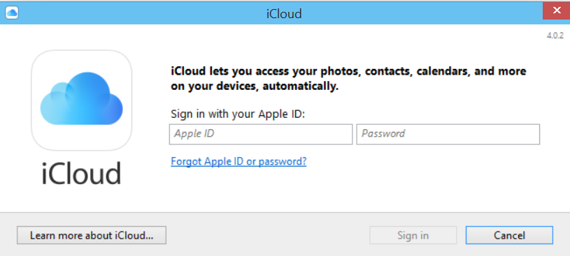 how to download icloud for windows