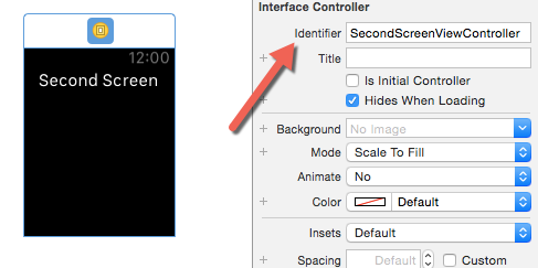 Setting identifier for view controller