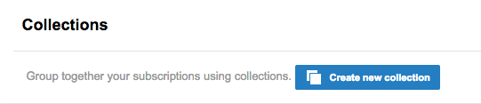 create collections of subscriptions